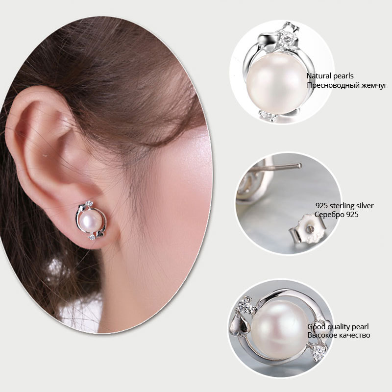 11 Pearl Ethnic Earrings Real 7 8 Mm 9 White Flower Earring For Female Birthday Gift In From Jewelry Accessories On