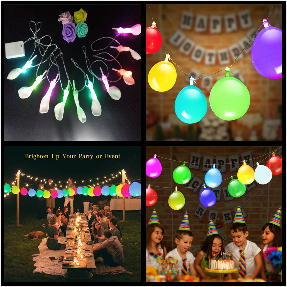 zljq white led party balloons string lights birthday supplies