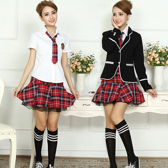 New school uniform for girl Contain jacket shirt skirt tie