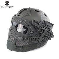 Emerson BD9197 G4 Sistemi/Set ile PJ Kask Genel Koruma Cam Maske Askeri Paintball Avcılık Kask ile Gözlüğü