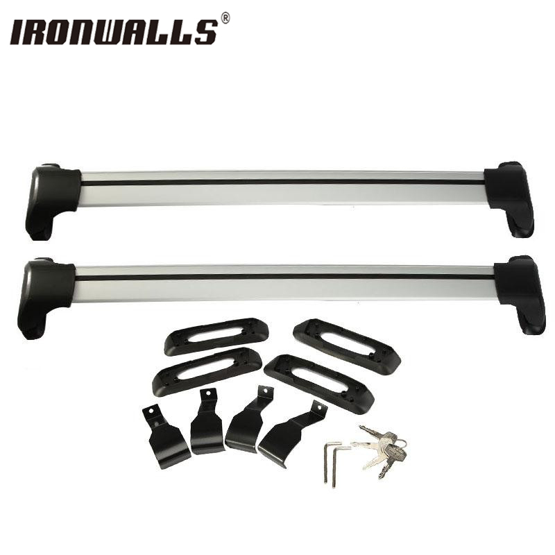 Ironwalls Universal Adjustable 120cm Car Roof Rock Cross Bar Lock Luggage Carrier System 150LBS 4x4 MPV For  ATV bbq fuka 2pcs car aluminum abs silver luggage carrier top roof rack cross bars fit for compass 2017 car styling car accessories