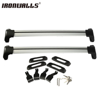 Ironwalls Universal Ajustável 120 cm Rock Teto Do Carro Cross Bar Sistema de Bloqueio Bagagem Transportadora 150LBS 4x4 MPV Para ATV