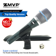Professionele Real Condensor BETA87A Top Kwaliteit Supercardioid Microfoon Beta 87A Vocal Karaoke Mic BETA87 Handheld Microfone(China)