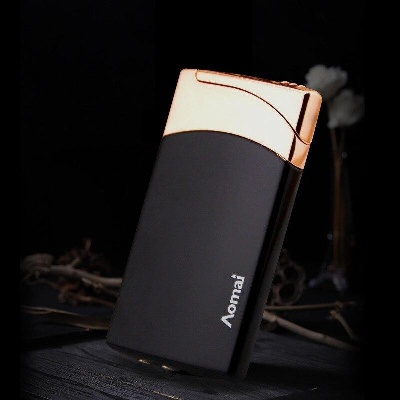 Image 3 - 2018 New Compact Jet Lighter Gas Torch Lighter Flat Windproof Metal Cigar Lighter 1300 C Butane Lighter Cigarette Accessories-in Matches from Home & Garden
