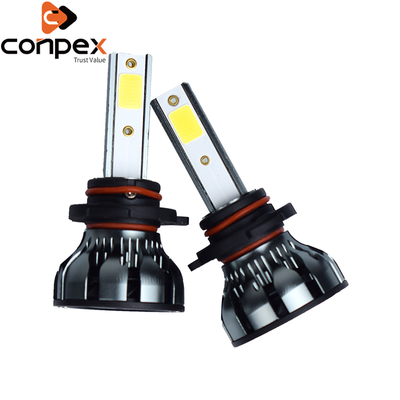 Car Headlight Bulbs <font><b>LED</b></font> 32W 12V H4 <font><b>H7</b></font> <font><b>LED</b></font> <font><b>Can</b></font> <font><b>bus</b></font> Car Lights two Sided <font><b>LED</b></font> Lamp Beads cob automobile parts 6500k <font><b>LED</b></font> Headlight image