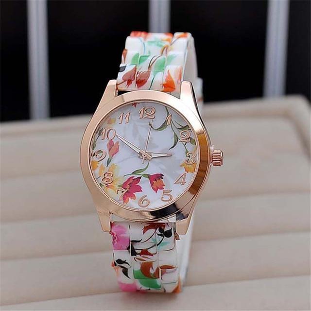 Zegarek damski urocze wiosenne kwiaty różne wzory
