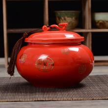 Керамическая Тубы Чай Caddy Зелёный чай хранения Косметическая пудра Box ремесел чайный набор фитинги