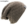 New Fashion Solid Design Skullies Bonnet Winter Hats For Women Men Beanie Men's Faux Fur Warm Baggy Knitted Knit Winter Hat Caps