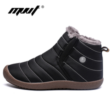 MVVT Plus Size Men Winter boots Unisex Quality Snow Boots For Waterproof Shoes Mens Ankle With Fur