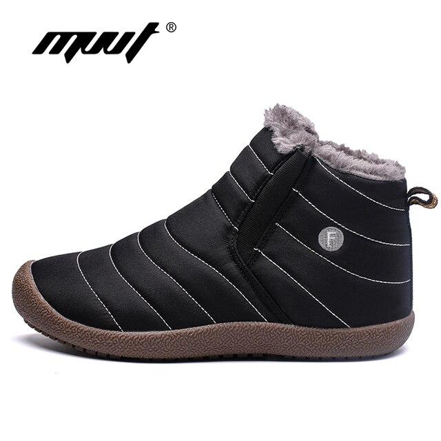 MVVT Plus ขนาดชายฤดูหนาวรองเท้า Unisex คุณภาพสูงรองเท้าบูทสำหรับผู้ชายกันน้ำฤดูหนาวรองเท้าผู้ชายข้อเท้ารองเท้า fur Men รองเท้า
