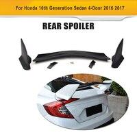 Đen ABS Rear Trunk Boot Đua Spoiler Wing cho Honda Civic 10th Thế Hệ Sedan 4 Cửa 2016 2017 Thiết Kế Xe