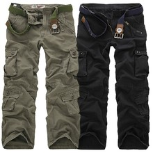 Free Shipping 30-40 Plus measurement High Quality Men's Cargo Pants Casual Pant Multi Pocket Military for Men Outdoors Long Trousers