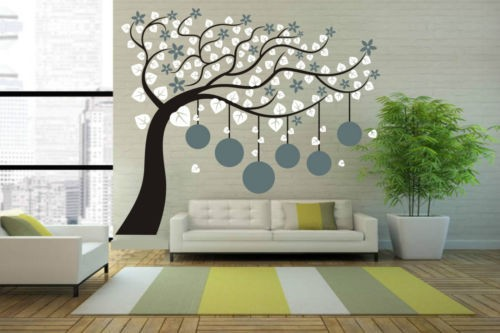 Plant Wall Art large photo frame tree wall sticker home decor vinyl decal plant