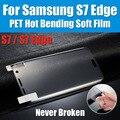 QM31 nunca roto caliente doble nano suave película de alta resistencia para samsung galaxy s7 edge s6edge protector de pantalla templado no vidrio