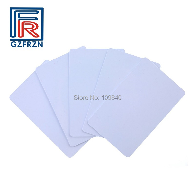 13.56MHZ MF 1K S50 F08 NFC Tag IC Card FM11RF08 MFS50 Chip PVC white RFID Cards ISO14443A for access control 13 56mhz mf 1k s50 fm11rf08 f08 nfc transparent trops of glue card rfid key tag key ring