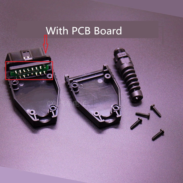 Universal 16Pin 16 pin EOBD2 OBDii OBD II OBD2 J1962 Connector Male Plug Adapter With PCB Board