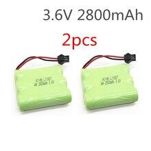 2 piezas 3,6 V batería 2800 mAh ni-mh batería 3,6 V pilas recargables nimh 3,6 V aa tamaño ni mh para rc coche juguete herramientas modelo