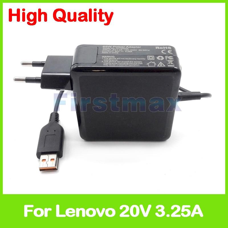 20 V 3.25A 65 W ordinateur portable adaptateur secteur chargeur ADL65WDE 5A10G68672 ADL65WDG 5A10G68690 pour Lenovo Yoga 3 Pro Ultrabook UE Plug