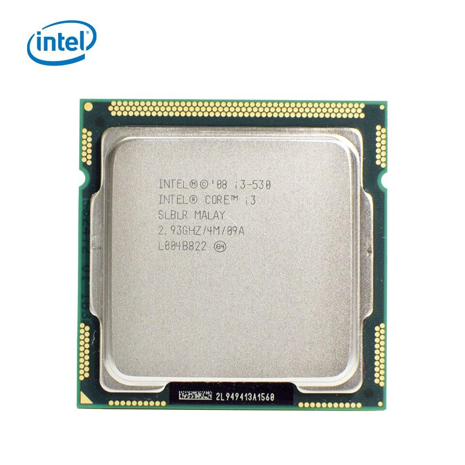 Processeur d'ordinateur de bureau Intel Core i3 530 i3-530 double coeur 2.93GHz 4 mo Cache LGA 1156 CPU utilisé