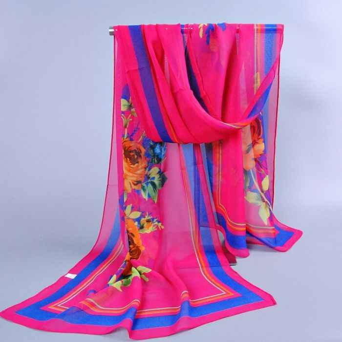 2014 donne calde di vendita di disegno floreale scialli beach musulmano chiffon di seta testa piana estate / autunno sciarpe / sciarpa 10 pz/lotto 160 * 50 cm