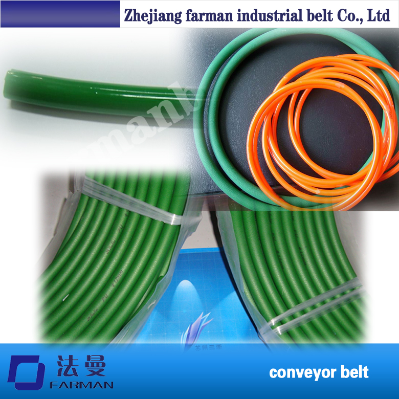 Green Orange Pu/Polyurethane Round Belt Smooth And Rough Surface green orange transparent pu round belt polyurethane drive belt smooth and rough surface for sale