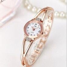 2017 New Luxury Brand Quartz Watch Women Fashion Bracelet Watches Rhinestone Dress Stainless Steel Wristwatch Relogio Feminino