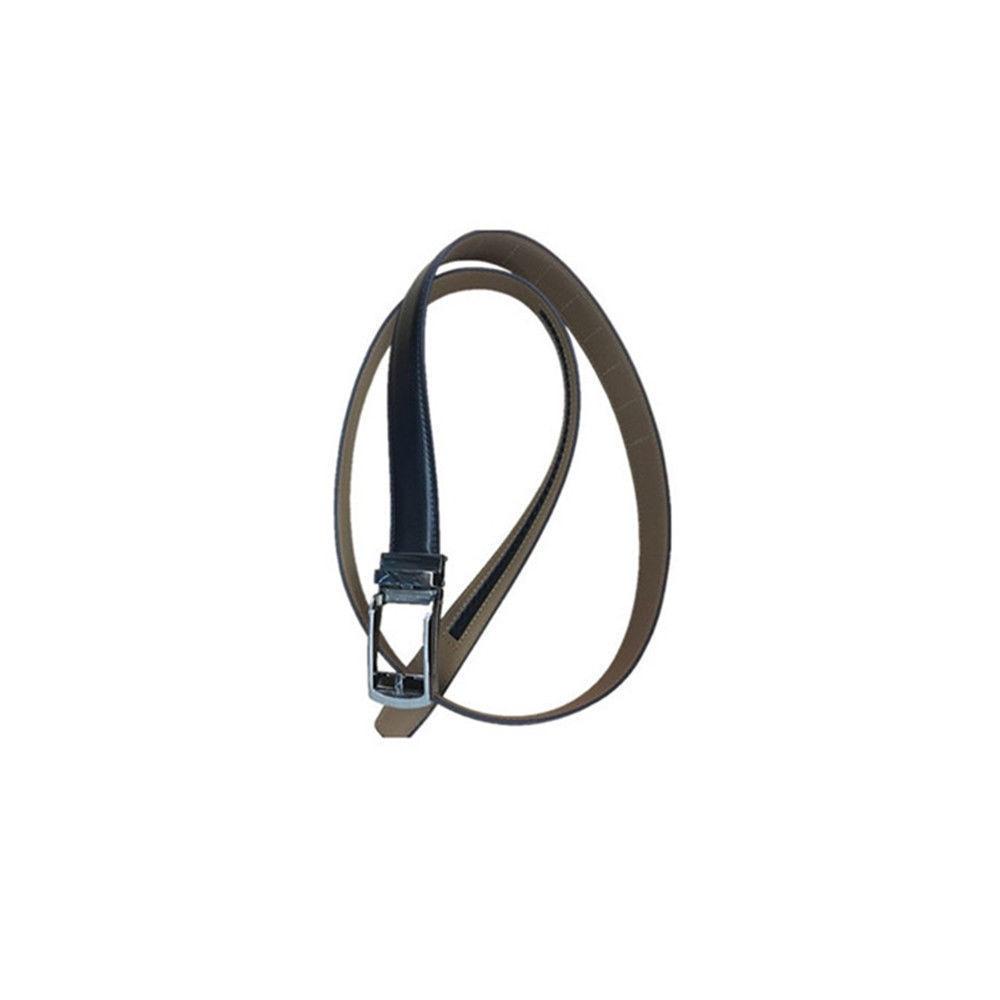 Black/Brown plain men's leather belt 3