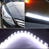 10pcs DC 12V 30cm 15 SMD Led Light Strips For Car Interior Car Truck Flexible Waterproof
