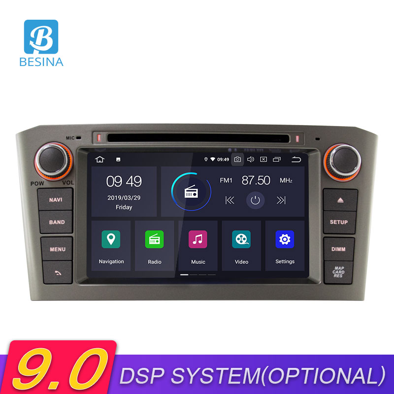 Besina <font><b>Android</b></font> 9.0 Car DVD Player For <font><b>Toyota</b></font> Avensis/<font><b>T25</b></font> 2003-2007 2008 Multimedia GPS Navigation Stereo 2 Din Car Radio WIFI image