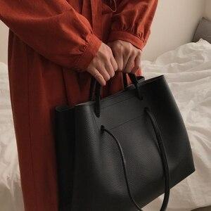 Image 3 - Moda PU deri kadın omuz çantaları marka çanta kadın kova çanta tasarımcısı askılı çanta yüksek kalite kadınlar Mujer Bolsas