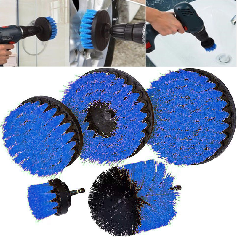 2 3.5 4 5 Inch Solid  Hollow Drill Power Scrub Clean Brush For Leather Plastic Wooden Furniture  Cleaning Power Scrub,  Blue