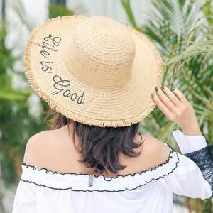 8aef5aa0974 IMYQMYWLE Women Straw Summer Sun Hats Large Sun Beach Hat