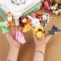 12 PCs Animal família Finger Puppets pano boneca de mão educacional brinquedo de pelúcia macia brinquedos bonecas bonitos para crianças brinquedo