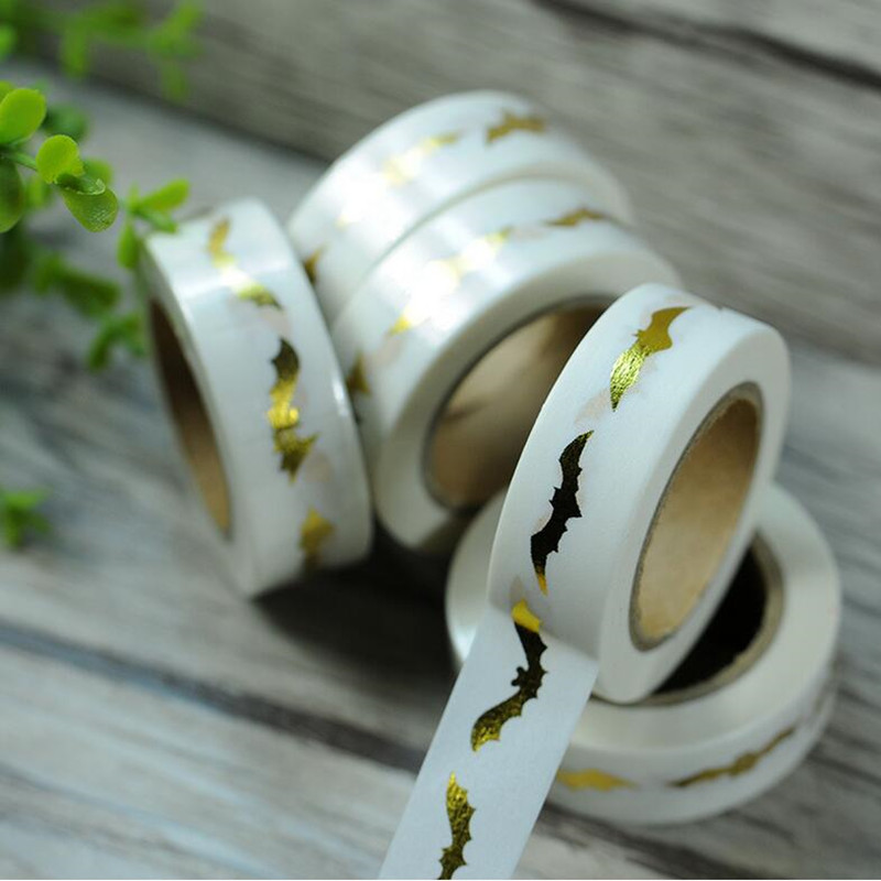 2017 creative bat paper adhesive tape halloween theme dance party diy decoration wedding birthday supplies - Popular Halloween Themes