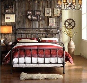 Hierro americano camas camas de hierro forjado somier 1.8 m marco de ...