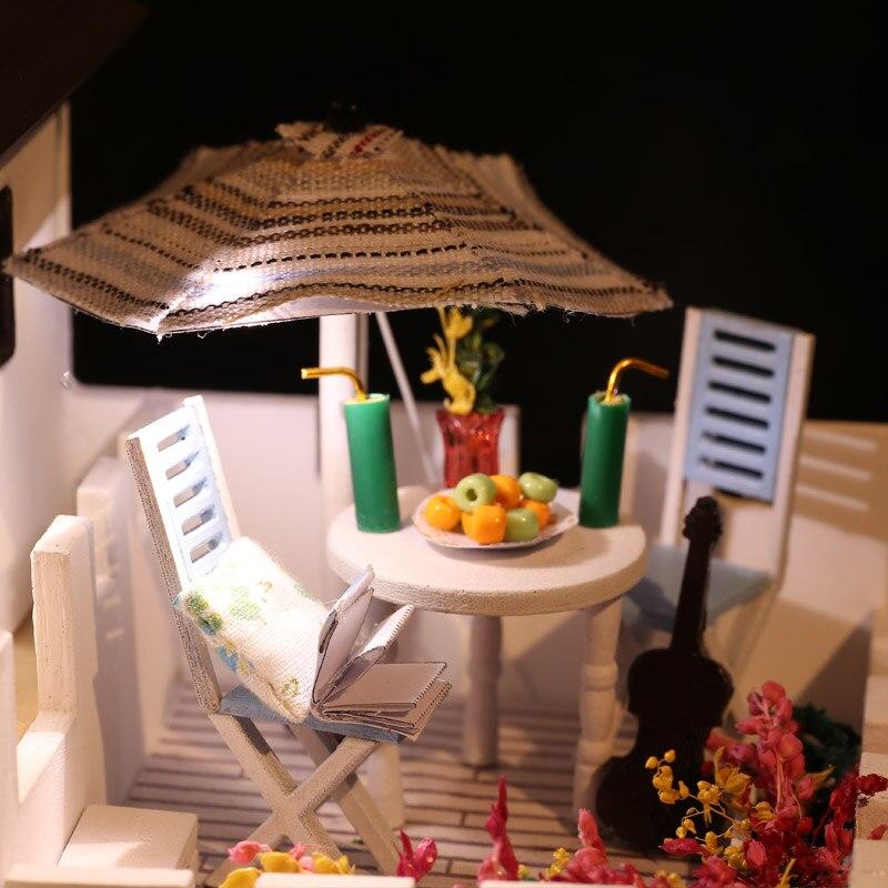 Bricolage maison de poupée meubles en bois mon rêve château filles jouet à la main maison de poupée en bois décoration bricolage jouets pour enfants fille cadeau - 6