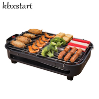 Kbxstart Home Portable Smokeless Electric Grill Hot Dog Churrasqueira Eletrica Korean Rotisserie Barbecue Restaurant Equipments