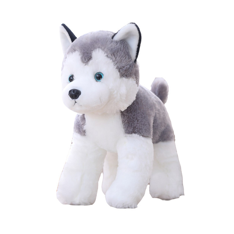 25 30cm Cute Husky Plush Toys Simulation Stuffed Animal Stuffed Doll Kids Baby Toys Plush Husky Dolls Kids Birthday Presen in Stuffed Plush Animals from Toys Hobbies