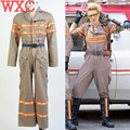 Ghostbusters Costume Ghost Busters Cosplay Jumpsuit Halloween Team Uniform Unisex Flight Suit Rompers Fantays Carnival WXC