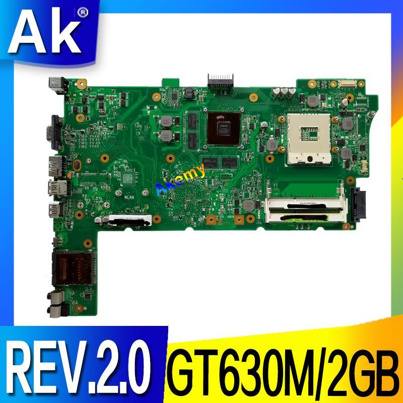 N73SM Laptop Motherboard REV.2.0 For ASUS N73SV N73SM N73S PGA989 3 RAM SLOT With GT630M/2GB  Graphic DDR3 Full Test