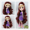 Good quality long burgundy body wavy  baby girl bly the doll wig