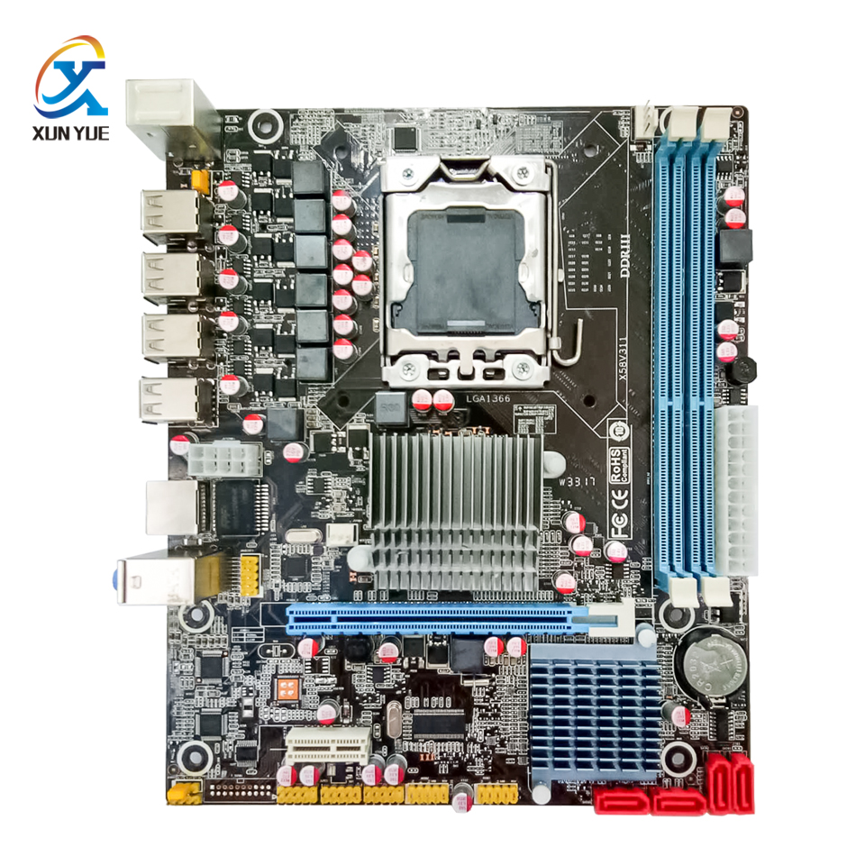 100% OEM New X58 V311 Desktop Motherboard X58 LGA 1366 Quad-Core DDR3/ECC 16G All-Solid MATX On Sale стоимость