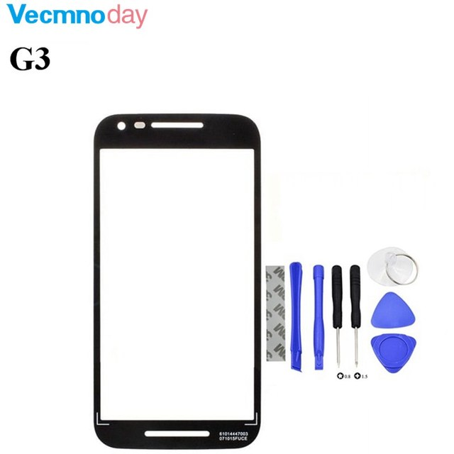 Vecmnoday For Motorola Moto G3 G 3rd Gen XT1540 XT1541 Front Touch Screen Outer Glass Lens Cover+Free Tools Free Shipping