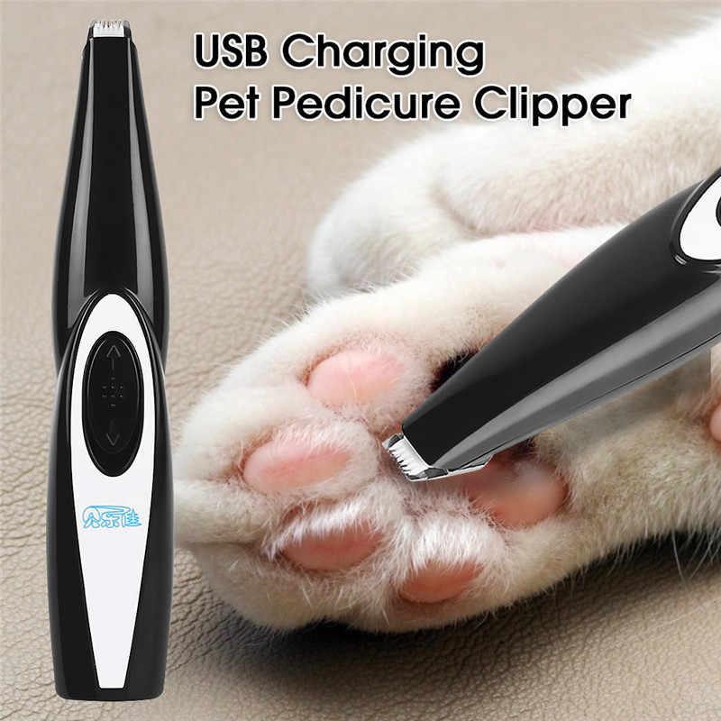 USB Rechargeable Low-Noise Rambut Hewan Peliharaan Clipper Remover untuk Anjing Kucing Kaki Telinga Mata Di Sekitar Rambut Mesin Pemotong Alat Cukur grooming Set