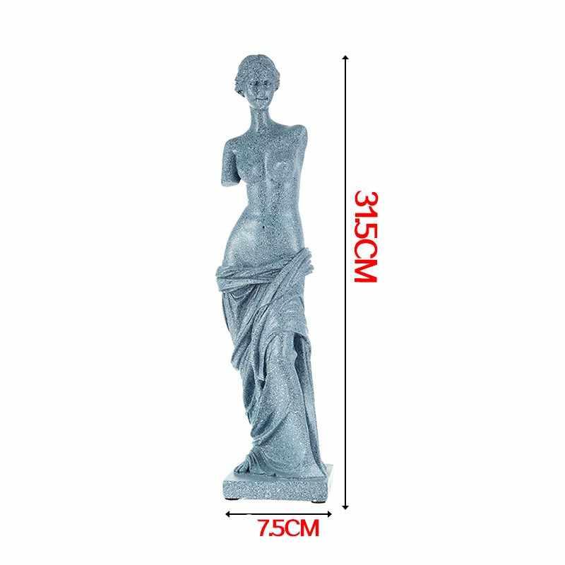 2 di colore 31 cm Nude Venus Milo Afrodite Dea Statua Greca Replica Statue In Resina Non-gesso Statua Della Decorazione di Arte