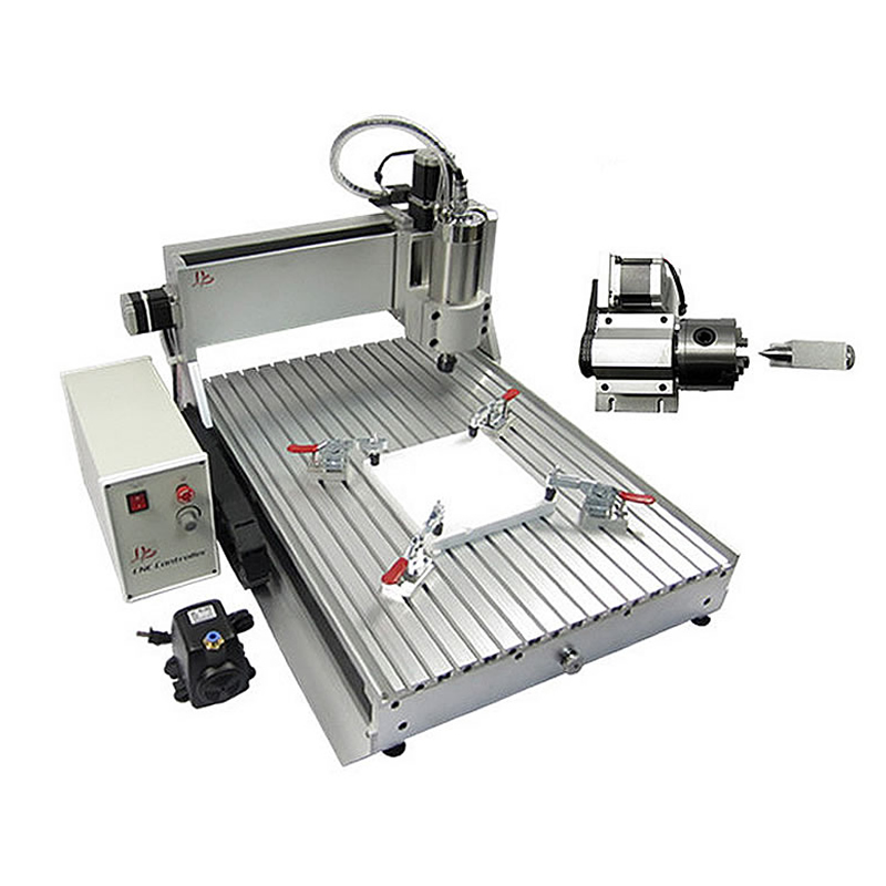 цены на 4 axis 800W LY CNC Router 6040 Z-VFD china cnc milling machine for for aluminum metal wood with assembled & tested well
