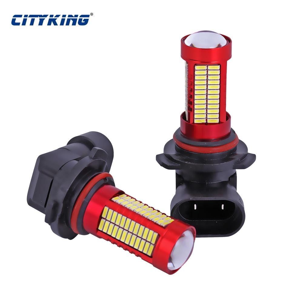 1PCS HB4 HB3 9005 9006 LED 106smd led 4014 30w LED Running Fog Light - Ավտոմեքենայի լույսեր - Լուսանկար 2