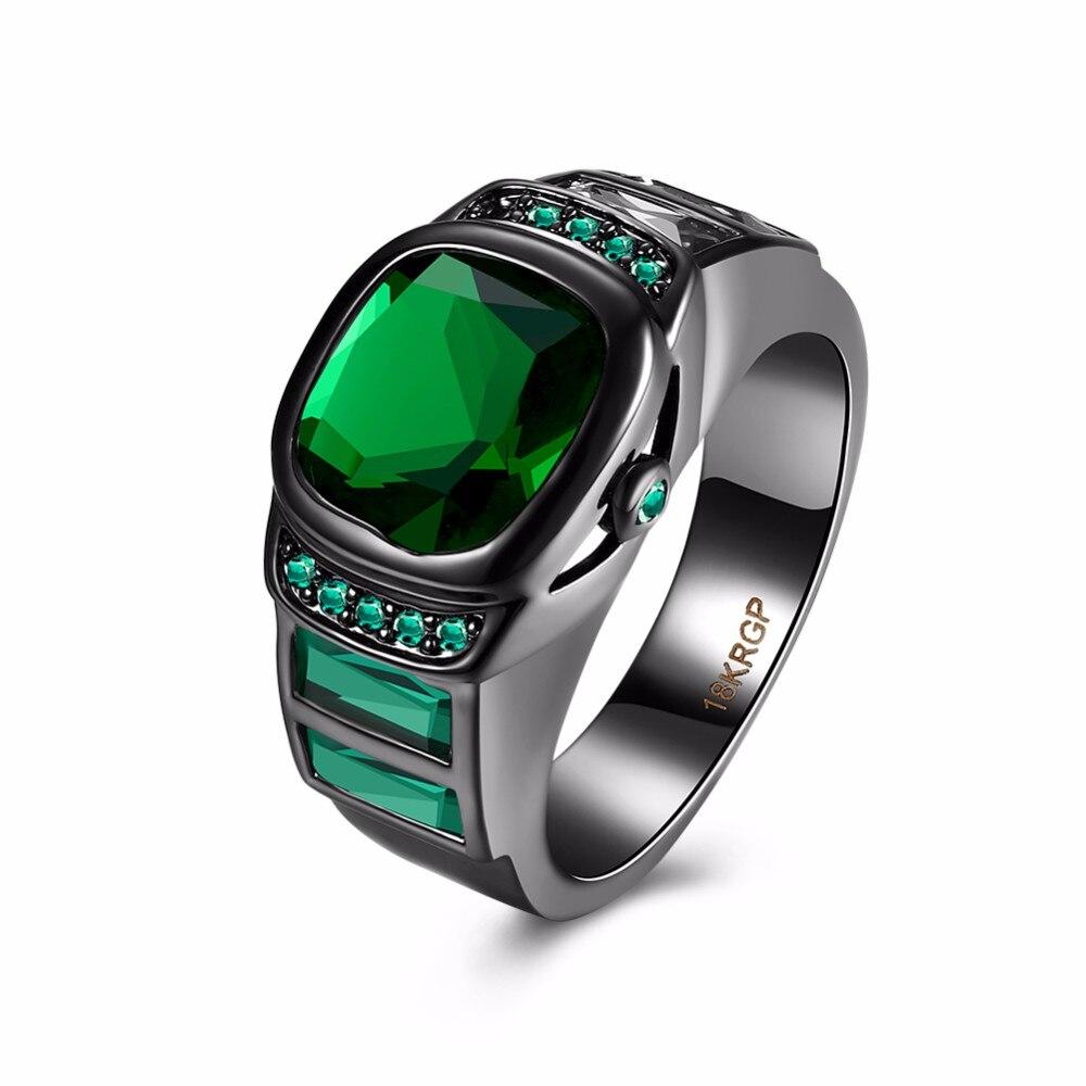 New Black Gun plated Watch Ring Geomrtric Round Copper Purple ...
