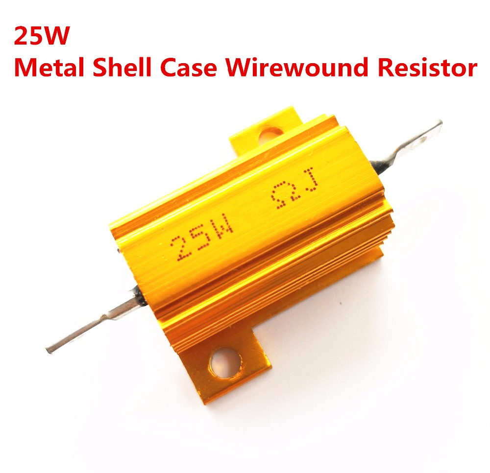 10pcs 25W 0.1 0.2 0.22 0.25 <font><b>0.3</b></font> 0.33 <font><b>ohm</b></font> 0.1R 0.2R 0.22R 0.25R 0.3R 0.33R Wirewound Aluminum Power Metal Shell Case Resista 5% image