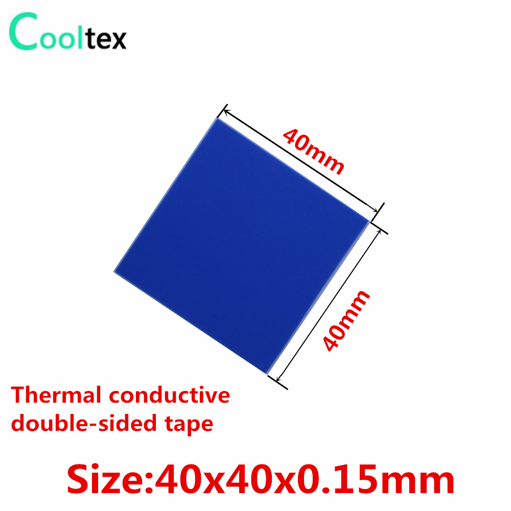 30pcs 40x40mm Thermally Conductive Adhesive Transfer Double Sided Tapes sticker For Electronic Heatsink Radiator Led Cooling 20pcs lot aluminum heatsink 14 14 6mm electronic chip radiator cooler w thermal double sided adhesive tape for ic 3d printer